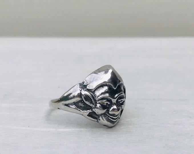 Vintage Bernard Instone Jewellery, Sterling Silver Pixie Ring Size N