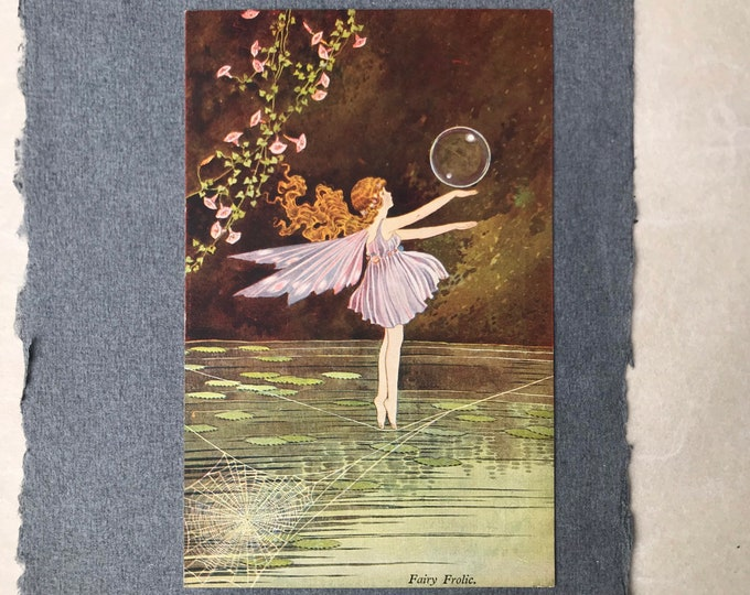 Ida Rentoul Outhwaite Fairy Frolic Elves & Fairies Series 71a AC Black