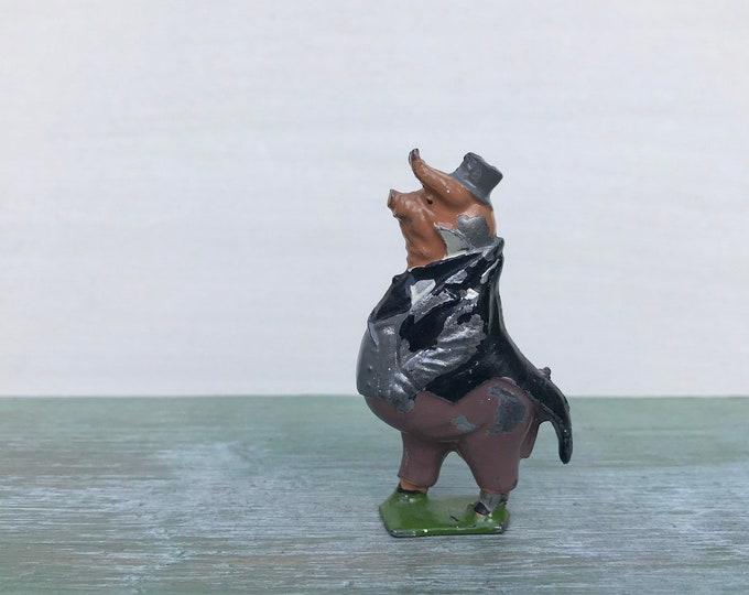 Cococub Pig Mr Pie Porker, Britains Miniature Lead Cadbury Advertising
