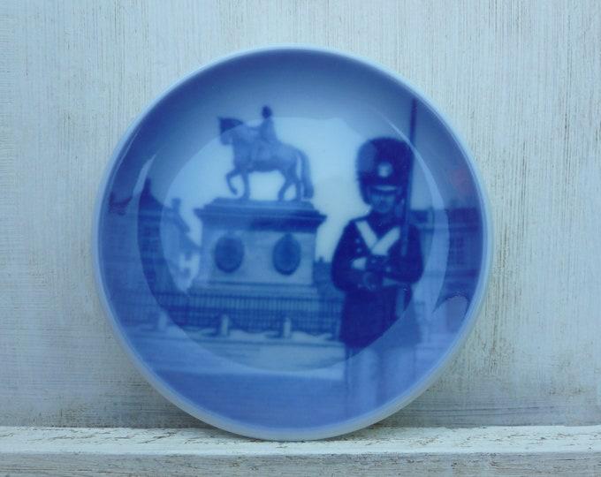 Vintage Royal Copenhagen Blue Porcelain Trinket Dish, Amalienborg