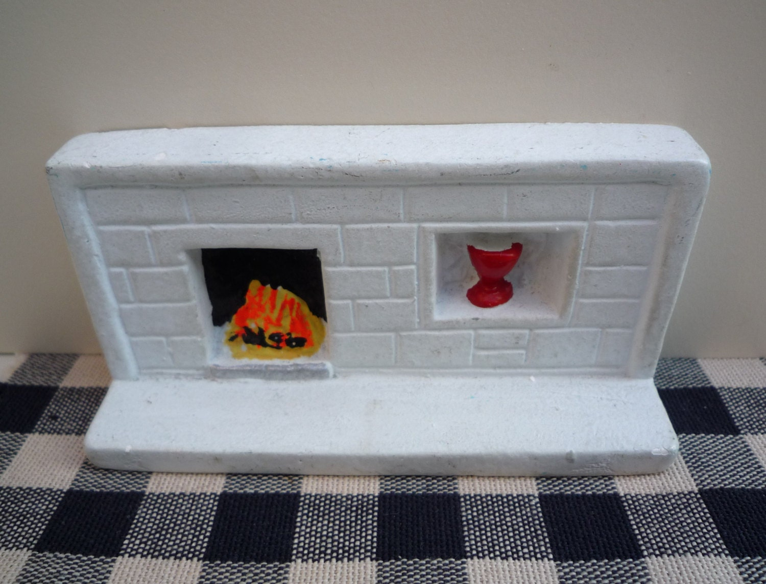 Mid Century Dol Toi Barnack Fireplace, Vintage Dolls House Miniature  Furniture, 1:16 Scale Plaster White Fireplace Mantelpiece And Shelf.