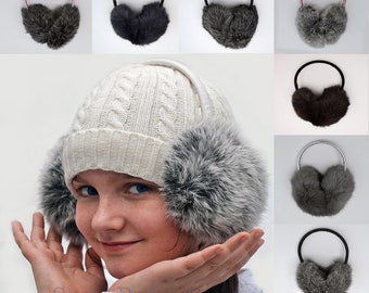 Eritrea Africa National Emblem Winter Earmuffs Ear Warmers Faux Fur Foldable Plush Outdoor Gift