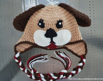 3d4da7283c9 Crochet Hat pattern Baby Animal Hat Puppy hat Pattern