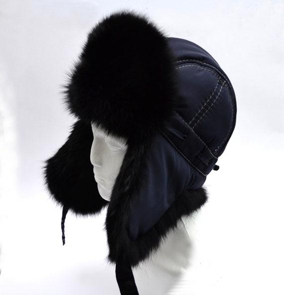 Aviator Fur Hat Fur Ear Flap Hat Men real fur hat Trapper  588674df7bf