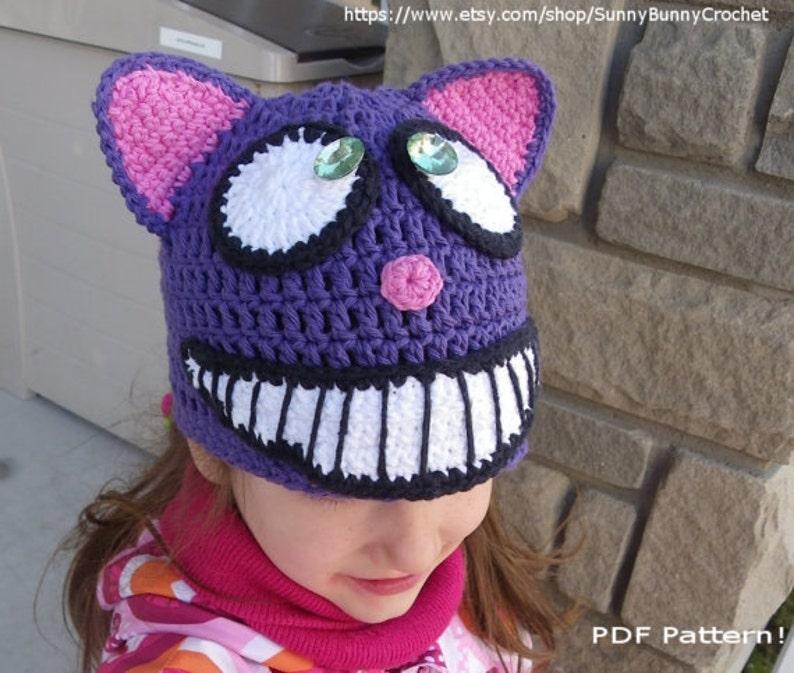 c8eb7b2fdf5 Cheshire Cat Hat Crochet Hat Pattern Animal Hat Pattern