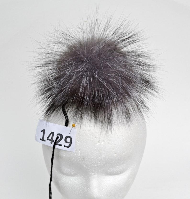 e856656bad3 7 LARGE SILVER Fox Pompom Fur Pom Pom Fur Pom-Pom