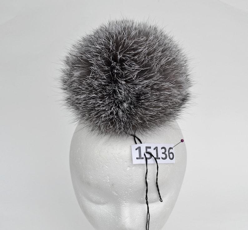 a301b03c39c 75 EXTRA LARGE SILVER Fox Pompom Fox Pom Pom Fur