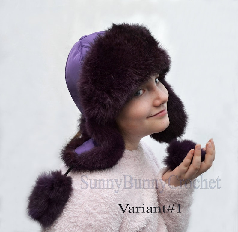 EAR FLAP HAT Rabbit Fur Kids Hat Ushanka Hat Child Hat Fur  47274133f3e4