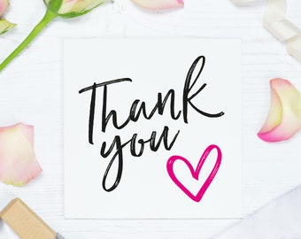 Wedding thank you card, thank you bridesmaid gift, thanks, appreciation card