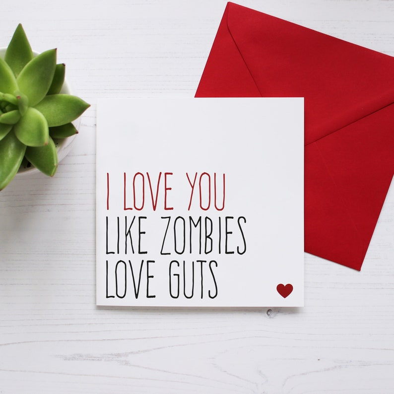 Valentines card for boyfriend Love card for him Funny image 0