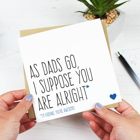Funny Fathers Day Cards Or Birthday Card For Dad Fathers Etsy