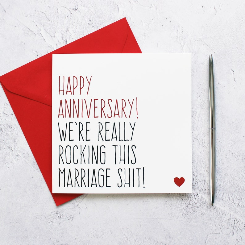 Wedding anniversary card for husband or wife anniversary image 0