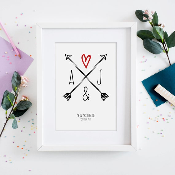 Personalised Flower Frame Home Decor Gifts For Couples Anniversary Gift, Wedding Gift