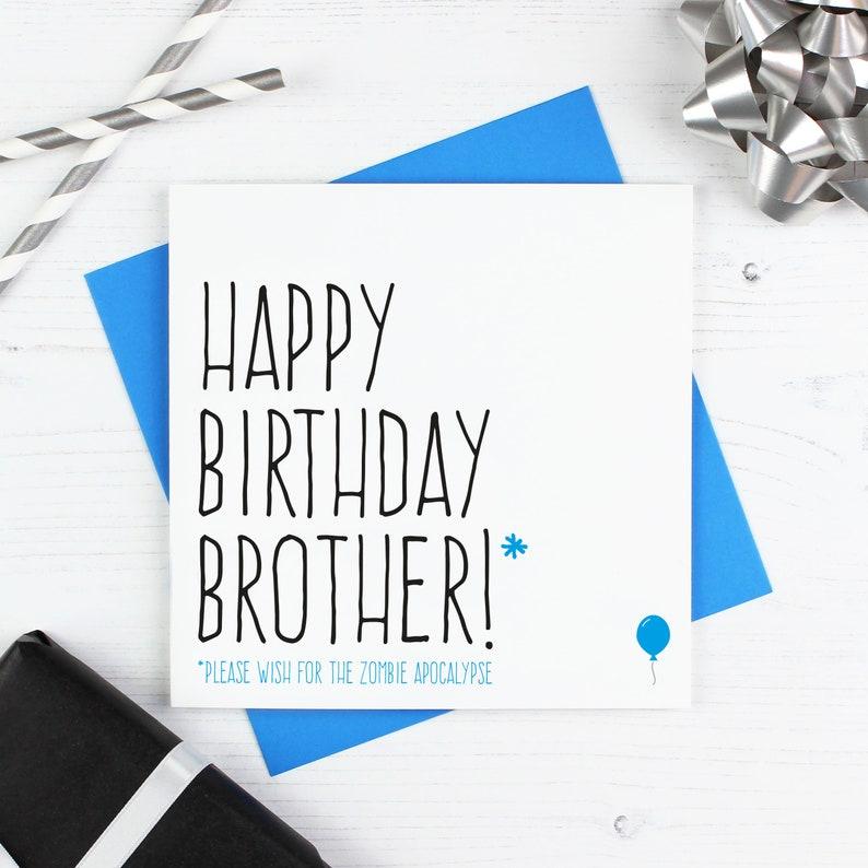 Carta Di Compleanno Fratello Buon Compleanno Per Fratello Etsy