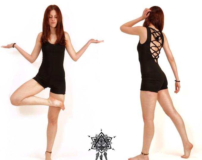 Lace jumpsuit. booty Onesie, Yoga bodysuit, onesie, aerial costume, aerial suit, yoga wear, Pole dance, lace onesie, Open back jumpsuit