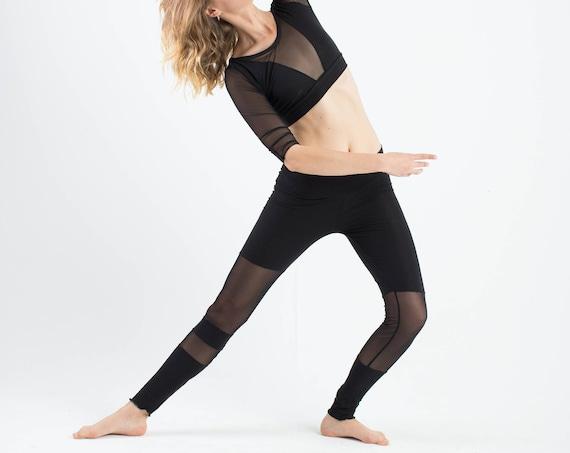 Mesh leggings, futuristic leggings, mesh pants, yoga pants, yoga clothing, minimal pants, sport clothing, women pants