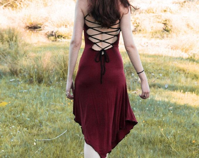 Lotus dress. Bohemian dress, romantic dress, backless dress, faery dress, sacred geometry, festival dress, Pixie dress, elven clothes, Gypsy