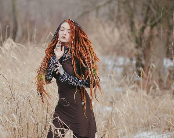 Hooded elven dress. Dress with hood. Boho dress. Forest dress. Fitted dress. Green dress. Pixie dress. elven clothing. Gypsy clothing.