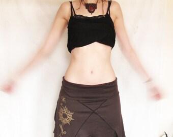 Pixie skirt. festival. Earthy skirt. Goa. Lotus flower. Sacred geometry. Psytrance. Hippie. Tribal. Elven skirt.