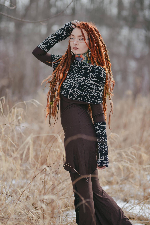 Elven Dress Boho Dress Cowl Neck Pixie Dress Gypsy