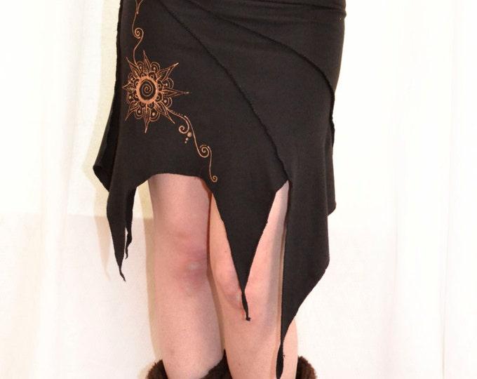 Pixie skirt. Elven skirt. Earthy skirt. Mandala skirt, Halloween skirt. Forest, gothic, festival, goa, Elven clothes, Pixie clothes, goth,