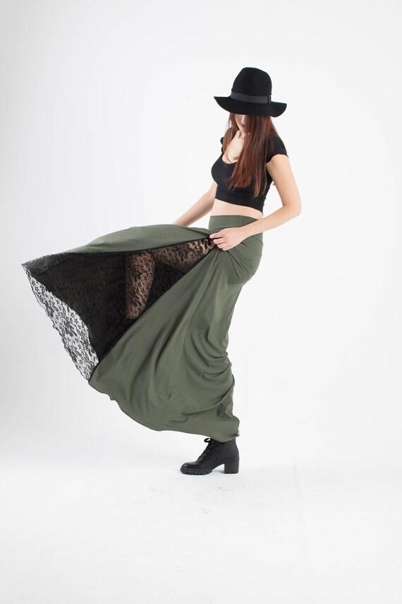 Boho Maxi skirt. Green maxi long skirt. Bohemian skirt. Pixie skirt. Eastern skirt. Festival skirt. Faery skirt, boho clothes, gypsy skirt