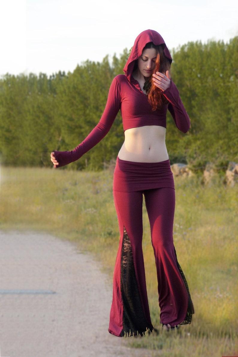 Boho Pants Bell bottoms yoga pants festival pants belly image 0