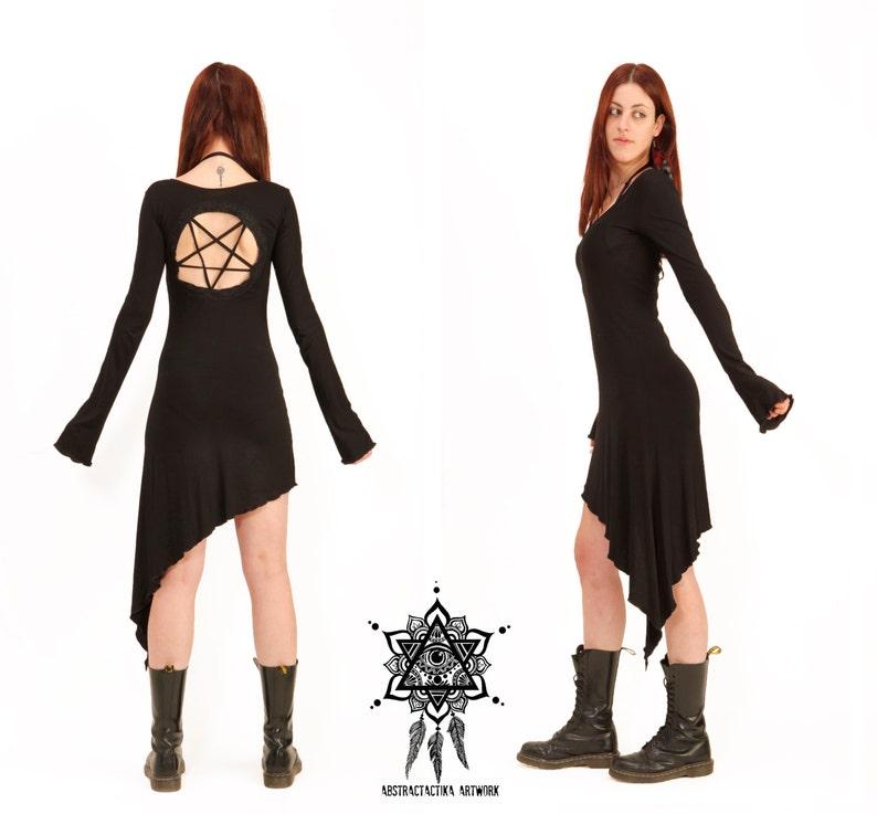 Pentagram dress. Goth dress. Gothic dress sacred geometry image 0