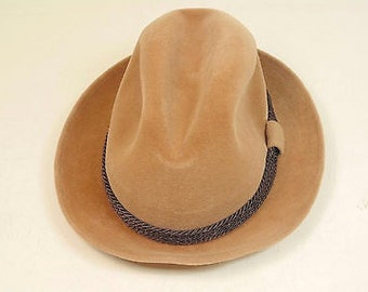 395d0ac0158 Dobbs Fifth Avenue Hunter Mountain Fedora Hat   Size 6 7 8   Camel Color Fedora  Hat