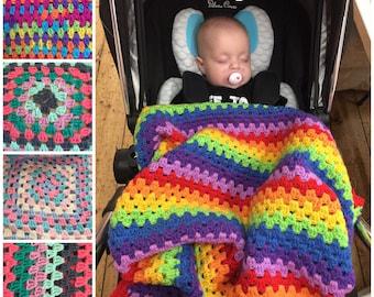 Large crochet baby blanket