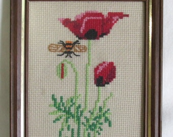 Choose Your Aida or Evenweave Count Poppy Red Solid Cross Stitch Fabric 100/% Cotton Custom Size Hand Dyed Cross Stitch Fabric