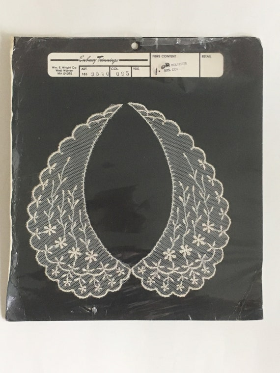 Lace dress collars vintage Embassy Trimmings lot … - image 2