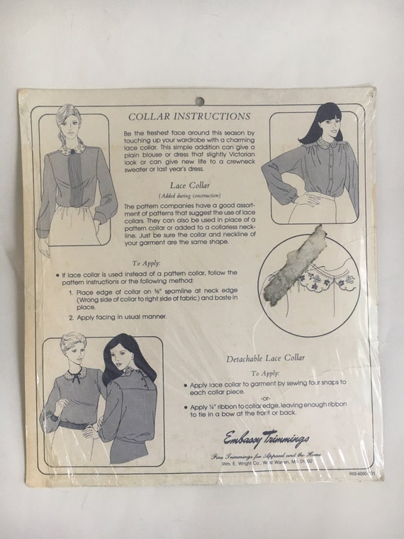 Lace dress collars vintage Embassy Trimmings lot … - image 5