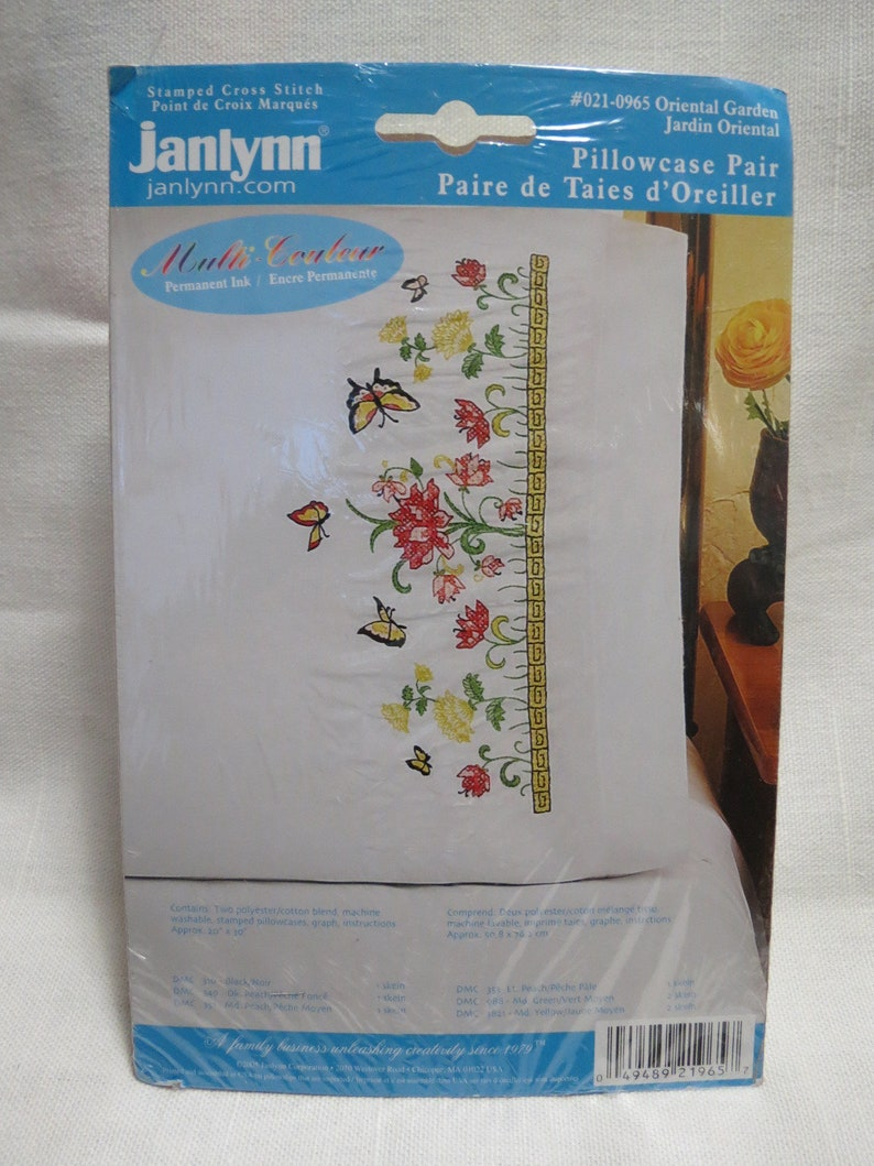 Cross Stitch or Embroidery Stamped Pillowcases **Added More Pattern Choices**