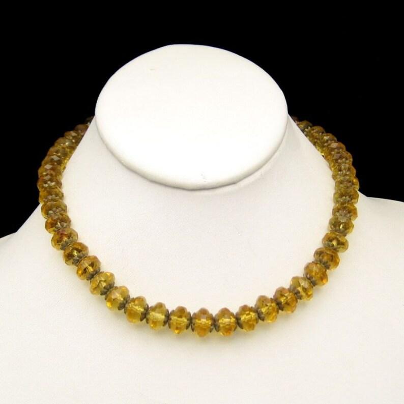 ART DECO CZECH Vintage Necklace Large Crystal Glass Beads image 0