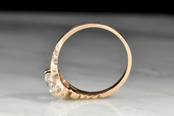 RESERVED!!! Antique Victorian Engagement Ring: 1.… - image 5