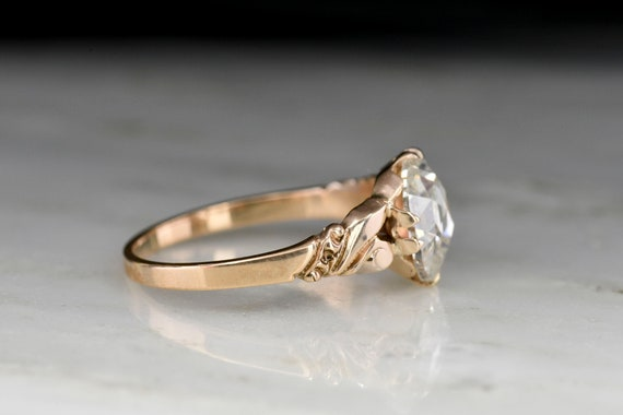 RESERVED!!! Antique Victorian Engagement Ring: 1.… - image 3