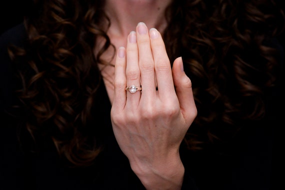 RESERVED!!! Antique Victorian Engagement Ring: 1.… - image 7