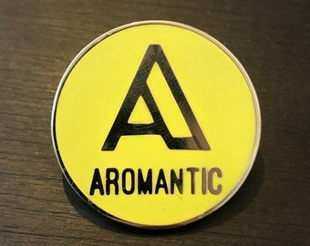 A is for... AROMANTIC - hard enamel asexual LGBTQIA+ pride pin badge
