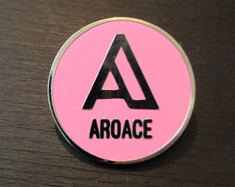 A is for... AROACE - hard enamel asexual LGBTQIA+ pride pin badge