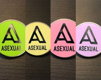 A is for... ASEXUAL - hard enamel asexual LGBTQIA+ pride pin badge