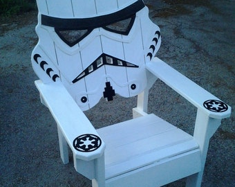 star wars storm trooper chairAdirondack chair Yard furniture big man sized sturdyDeath star themed chair custom beach chair. & SKULL CHAIR ADIRONDACK chair yard furniture solid wood | Etsy