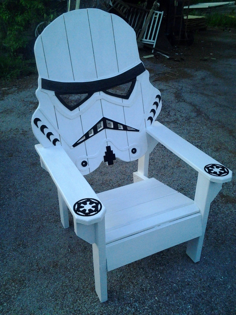 Star Wars Storm Trooper Chairadirondack Chair Yard Etsy