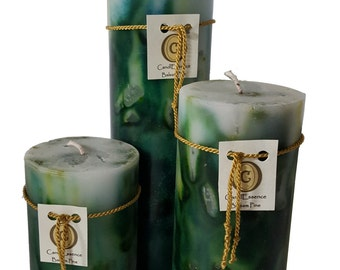 Scented Pillar Candle - Long Burning - Balsam Pine scent