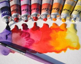 Full set of 70 Renesans watercolor tubes-Free Shipping