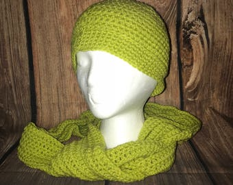 Crochet beanie and Scarf ***free shipping***
