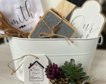Housewarming gift / new home gift/ gift basket / Unique gift / Happy New Home / Realtor Gift / Client Gift