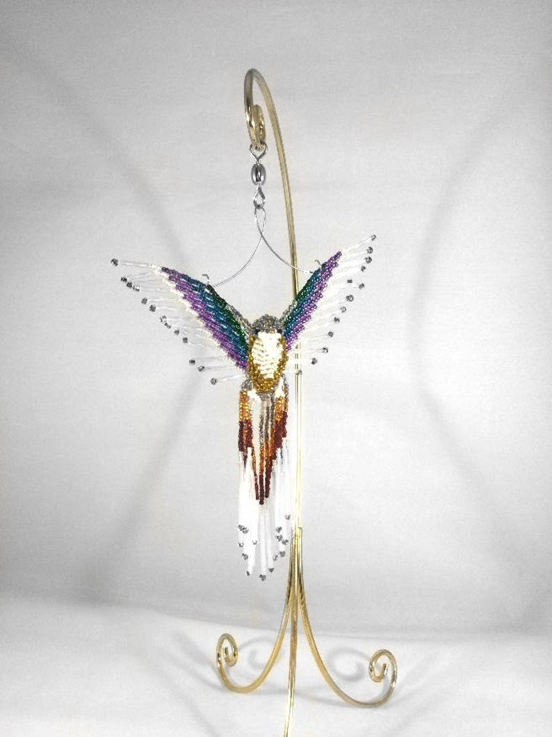Phoenix Beaded Suncatcher-3D Bead Bird Sun Catcher Ornament  image 0