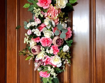 Incroyable Spring Front Door Swag, Wreaths, Front Door Decor, Lux Floral Swag, Front  Door Wreath, Front Door Swag, Spring Swags, Nursery Floral Swag
