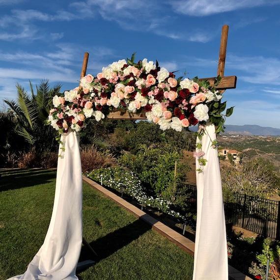 Burgundy Wedding Ceremony Arch Wedding Arch Flowers Ceremony | Etsy